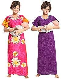TUCUTE Women Beautiful Flower Print Cotton Pregnancy wear + Self Printed  Cotton Fabric Feeding Maternity 7bdd499f9