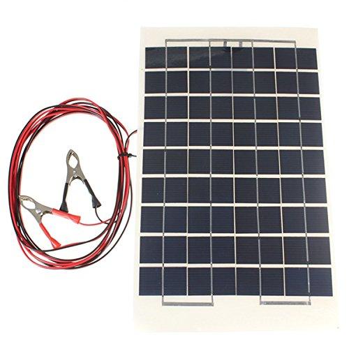 LaDicha 12V 10W 38 X 22 Cm Polycrystalline Transparente Resina Epoxi Panel Solar Con Alambre De Cocodrilo (precio: 34,56€)