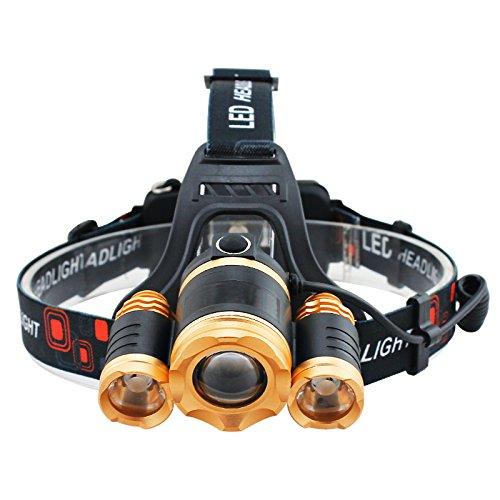 2x18650 Batterien 30W LED Beleuchtung Scheinwerfer Wasserdicht Zoombare Taschenlampe for Camping Wandern Outdoor Sport Scheinwerfer LED-Scheinwerfer -