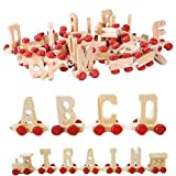 #9: Lakshya-Wooden a to z Train with 26 Piece Plus 1 Engine and 1 bogi
