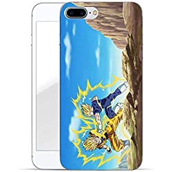 FINOO Dragonball Serie 02 Étui Rigide Dragonball Iphone 7 Plus/8 Plus - Goku vs Majin Vegeta, Iphone 7 Plus/8 Plus