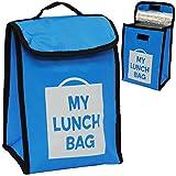Unbekannt Lunchtasche / Thermotasche - isoliert -  BLAU  - Thermo - Isoliertasche - Stofftasche - wasserdicht - Kühltasche & Warmhaltetasche Kühlen Wärmen - auslaufsi..