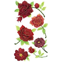 Jolees Boutique Dimensional Stickers-Colorful Roses
