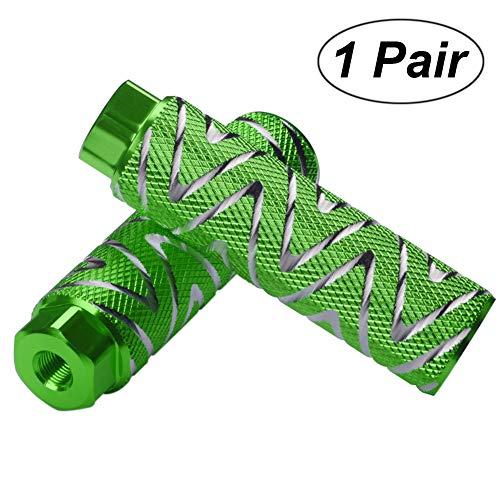 Grün Peg (Helaryfreemear 2 Stück Aluminiumlegierung Anti-Rutsch-Fußpedal BMX Pegs, grün, 2)