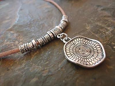 ? MANDALA COLLIER ? collier en cuir dans le sable et Spacer (1580)
