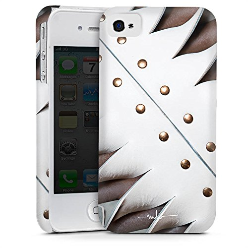 Apple iPhone 5 Housse étui coque protection Boucle Cuir Bandes Cas Premium mat