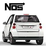NOS Nitrous Oxide System Tuning Sticker Lachgaseinspritzung Fun Aufkleber Autotattoo  E017