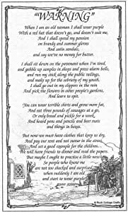 'Warning' (When I am an old Woman) Tea Towel by Jenny Joseph