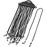 12 Piezas Nylon Negro Correa De Cable Cordón Gafas Soporte