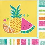 Creative Converting 335368 Sommer-Servietten, Obst-Motiv, 12,7 cm, mehrfarbig