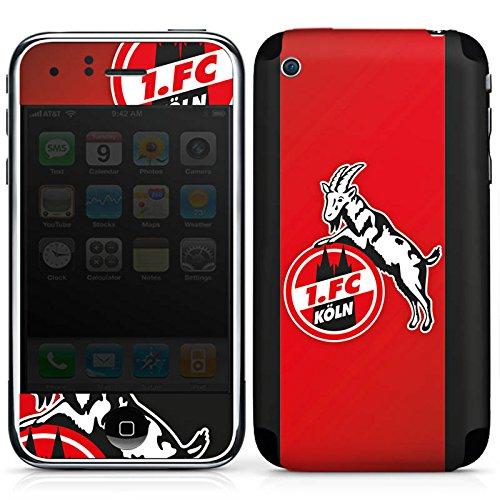 DeinDesign Apple iPhone 3Gs Folie Skin Sticker aus Vinyl-Folie Aufkleber 1. FC Köln Fanartikel Football