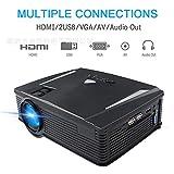 Projecteurs vidéo sans Fil 2500 lumens 1080P Full HD Connecter Le téléphone sans...