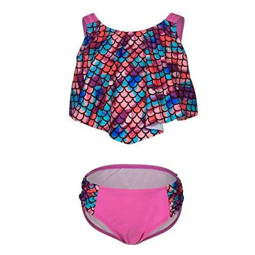 DAYU Mädchen Bikini mit Badehose Meerjungfrau Kostüm Badeanzug Schwarz Kinder Sport Sommer Bikini Beachwear - 7-9