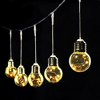 le globe led string lights 6m 25 pcs g45 clear bulbs copper wire starry lights