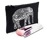 Sanfran-Stil, Elefant, Make-Up-Tasche Gr. Größe L, Schwarz - Schwarz