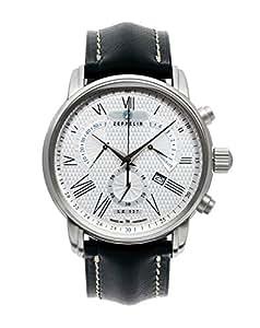 Zeppelin Herren-Armbanduhr XL LZ127 Transatlantik Chronograph Quarz Leder 76824