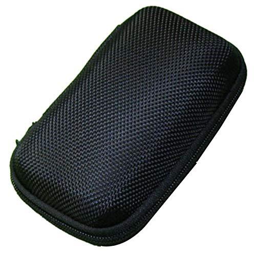 Fulltime E-Gadget Earbuds Case,Tragbare Mini-Runde Hard Storage Tasche für Kopfhörer SD TF-Karten SD-Karten Ohrhörer, Bluetooth-Headset, Kabel-Headset Mini-Case und vieles mehr (Schwarz)