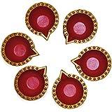 Aditya Diwali Diya / Set Of 6 Diyas / Hand Painted Diya / Oil Lamps / Designer Decorative Diyas / Diwali Gift Sets