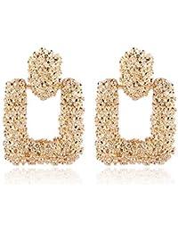 KEKEKEDA 2018 Fashion Earrings Women Retro Metal Earrings Geometric Large Pendant Earrings