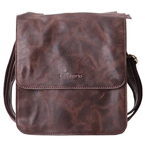 Leathario sac en cuir, sac rétro en cuir, sac vintage,