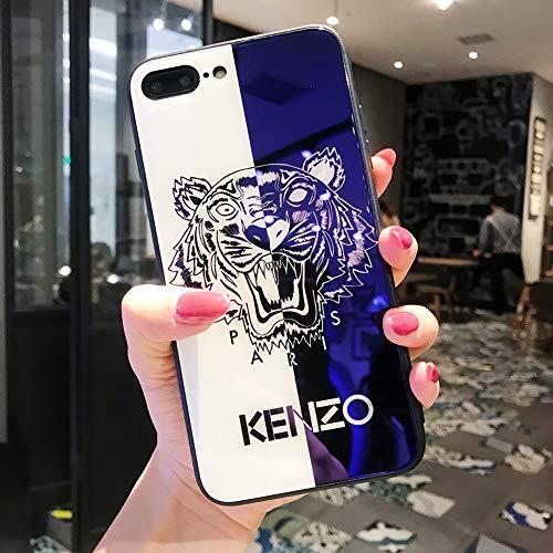 FENGT Apple Phone Case FüR iPhone XS Max Phone Case Apple Xr Blau GlasgehäUse Xr Lackiert SchutzhüLle 8Plus FallschutzhüLle,1,iphonexR - Phone Case Gucci