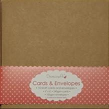 """Dovecraft juego de Plain en blanco Tarjeta de felicitación y sobres a juego (Navidad/boda), color 6"""" Brown Kraft x 10"""