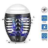 TDW insectos repelentes luces, mosquitos eléctrico con toma USB lámparas de insecticida acampar al aire libre, una trampas de mosquitos de respiración iluminadas, bandeja de recogida extraíble, negro