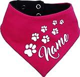 KLEINER FRATZ beidseitiges Multicolor Hunde Wende- Halstuch (Fb: pink-navy) (Gr.1 - HU 27-30 cm) mit dem Namen Ihres Tieres