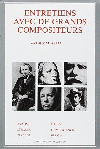 Entretiens avec de grands compositeurs