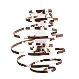 MiniSun, Abat-Jour Moderne en effet CUIVRE POLI, Lustre Suspension. Double Spirales en Métal, Spirales en cascade