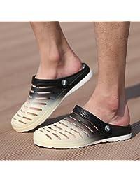 Xing Lin Sandales Pour Hommes Trou De Sport Chaussures Pour Hommes Chaussures De Plage Tendance Jardin Télévision Baotou Chaussures Antidérapantes Pour Hommes Sandales Marron Code Creux