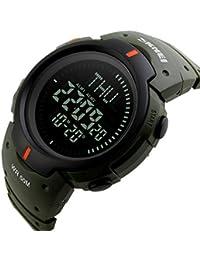 Hombre Relojes electrónicos,Y Movimiento Aire libre Escalar montañas Calendario Cronómetro cronógrafo Resina Reloj de pulsera digital-B