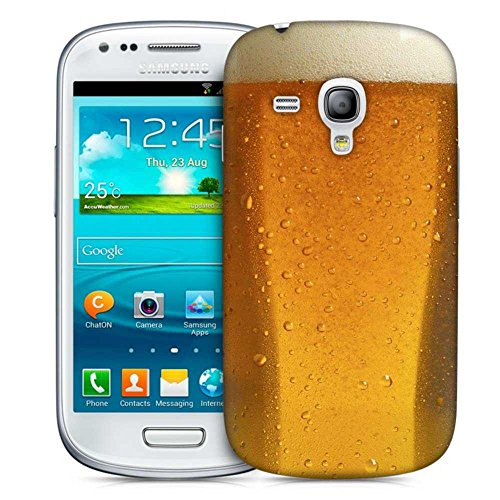 Snoogg Beer Glass Up Designer Protective Back Case Cover For Samsung Galaxy S3 Mini  available at amazon for Rs.199