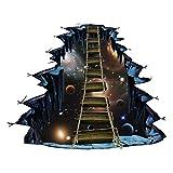 Koperras Stickers Muraux,éToiles 3D Pont Papiers Peints Mural pour Chambre/Salon Auto-Collant AdhéSif Amovible RéUtilisable Sticker Mural Autocollants Affiche DéCoration Murale