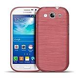 Conie Handy Rückschale für Samsung Galaxy S3, S3 Neo - Schutz- Hülle Cover Tasche aus Silikon, Bumper im Bürstendesign Rutschfest Dünn, Galaxy S3 Rot