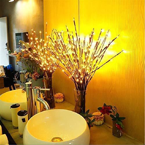 Winnes LED Branch Lichter Zweig LED Lichter künstliche Tree Willow Zweige LED dekorative Lichter batteriebetrieben für Home Holiday Party Dekoration (3 Stück, Warmweiß) -