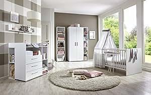 Babyzimmer / Kinderzimmer komplett Set KIM 4 in Weiß