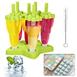 MMTX Ice Lolly Moulds, 6 Pack Moulds Set Ijslolly Makers Ijs Herbruikbare Frozon Popsicle Moulds Groen
