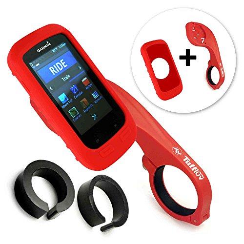tuff-luv-silikon-schutzhulle-tasche-fur-garmin-edge-1000-und-lenkerhalterung-farbe-rot