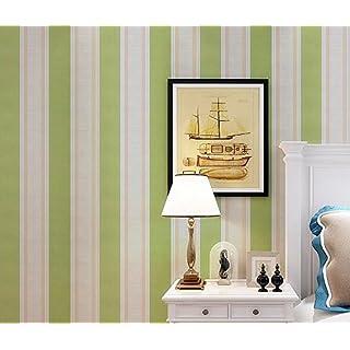 YUELA Kinderzimmer PVC Wasserdicht Selbstklebende Aufkleber Wallpaper  Wallpaper Aus Dem Schlafsaal Schlafzimmer Gestreifte Tapeten Kleber Mit