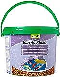 Tetra Pond Variety Sticks (Hauptfutter-Mix mit schwimmfähigen Futtersticks und Futterpellets, mit Farbverstärker), 10 Liter Eimer