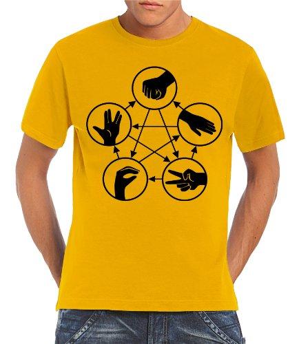 touchlines-herren-t-shirt-big-bang-theory-stein-schere-papier-echse-spock-gold-xl-b1815-gold-xl