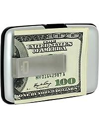 Porte-cartes Stockholm Money clip Gris argent Aluminium anodisé Pince en acier inoxydable Ögon designs STC-Silver