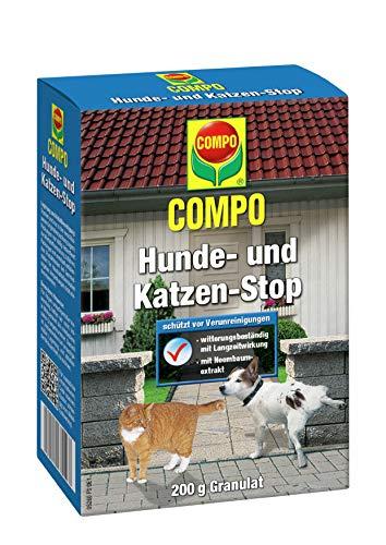 COMPO Hunde- und Katzen-Stop, Fernhaltemittel zum Schutz vor Verunreinigungen, Granulat mit Duftstoffen, 200 g