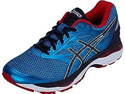 Asics Mens Island Blue, Black and Vermilion Running Shoes - 7 UK/India (41.5 EU)(8 US)