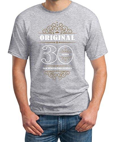 Geburtstag 30 Jahre - Original Perfektion Gereift Geschenkidee T-Shirt Grau