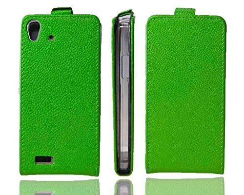 caseroxx Hülle/Tasche Flip Cover passend für Medion Life X5001, Schutzhülle (Handytasche klappbar in grün)