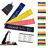 Bandes élastiques en latex naturel Bande de résistance entraînement pour la thérapie Hysical Pilates Yoga Rehab Sport Fitness Ceinture set of 4