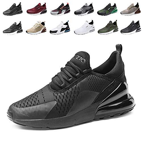 Uomo Donna Scarpe da Ginnastica Sportive Sneakers Running Basse Basket Sport Outdoor Fitness 1Black38EU