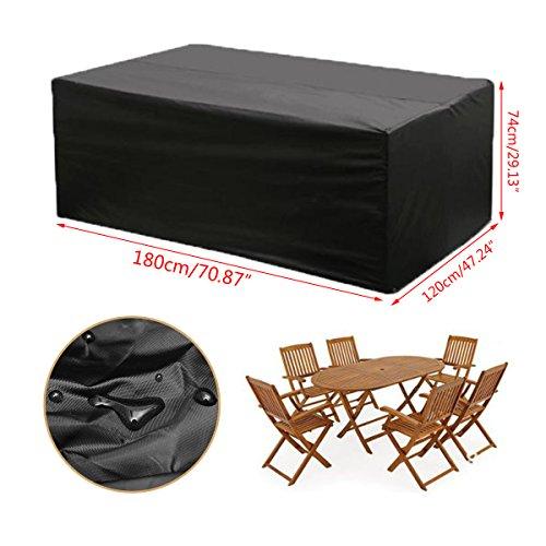 KING DO WAY wasserdicht Polyester Möbel Outdoor Sofa Sets Schutz Garten Outdoor Tisch Cube Sets Staub Cover (213 cm x 132 cm x 74 cm)